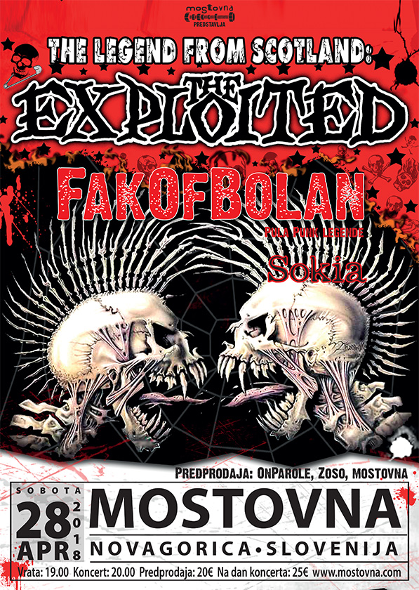 The Exploited s predskupinama Fakofbolan in Sokia
